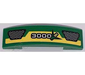 LEGO Slope 1 x 4 Curved Double with 3000 and Corn Sticker (93273)