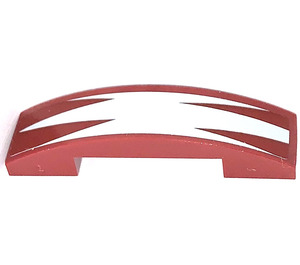 LEGO Slope 1 x 4 Curved Double with BARC Design Sticker (93273)