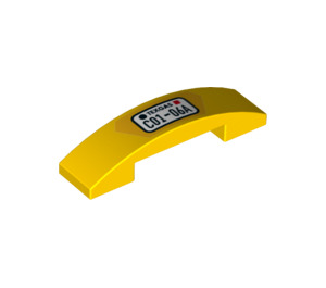 LEGO Slope 1 x 4 Curved Double with Decoration (32833 / 93273)