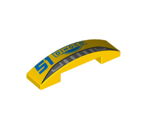 LEGO Slope 1 x 4 Curved Double with Decoration (34371 / 93273)