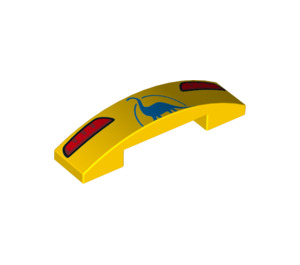 LEGO Slope 1 x 4 Curved Double with Decoration (34372 / 93273)