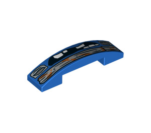 LEGO Slope 1 x 4 Curved Double with Decoration (34588 / 93273)