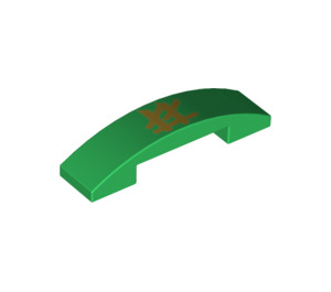 LEGO Slope 1 x 4 Curved Double with Decoration (36444 / 93273)