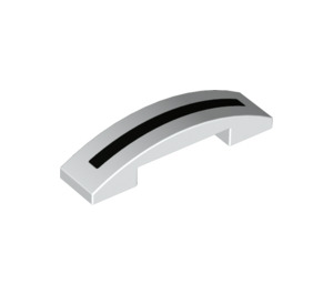 LEGO Slope 1 x 4 Curved Double with Decoration (39133 / 93273)