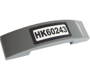 LEGO Slope 1 x 4 Curved Double with 'HK60243' Sticker (93273)