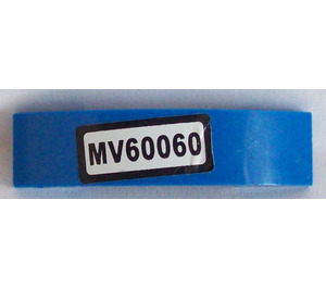 LEGO Slope 1 x 4 Curved Double with 'MV60060' Sticker (93273)