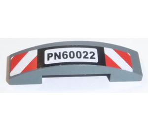 LEGO Slope 1 x 4 Curved Double with 'PN60022' Sticker (93273)