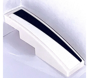 LEGO Slope 1 x 4 Curved with Black and White Triangle Left Sticker (11153)