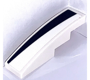 LEGO Slope 1 x 4 Curved with Black and White Triangle Right Sticker (11153)