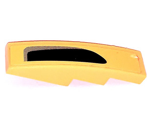 LEGO Slope 1 x 4 Curved with Black Decoration right Sticker (11153)