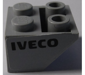 LEGO Slope 2 x 2 (45°) Inverted with 'IVECO' (Left) Sticker (3660)