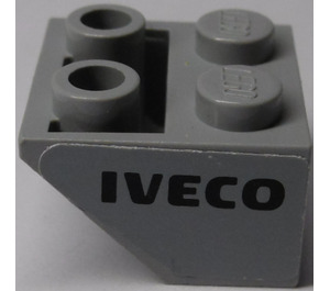 LEGO Slope 2 x 2 (45°) Inverted with 'IVECO' (Right) Sticker (3660)