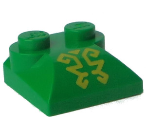 LEGO Slope 2 x 2 Curved with Yellow Ornate Lines with Curved End (47457)