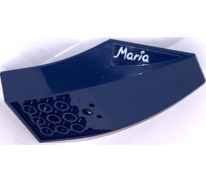 "LEGO Slope 2 x 6 x 10 Curved Inverted with ""Maria"" Sticker (47406)"