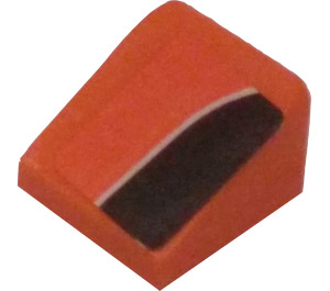 LEGO Slope 31° 1 x 1 with Black Side Stripe (Right) Sticker (50746)