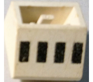 LEGO Slope 45° 2 x 2 Inverted with 4 Black Rectangles (Ferry Windows) Decoration (3660)