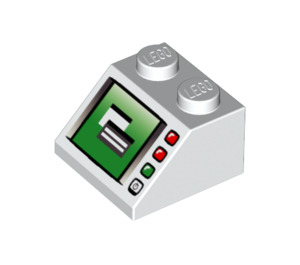 LEGO Slope 45° 2 x 2 with Computer Monitor and LEDs (3039 / 46096)