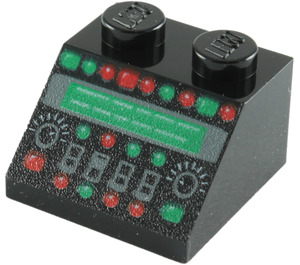 LEGO Slope 45° 2 x 2 with Control Panel Decoration (86665)