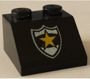 LEGO Slope 45° 2 x 2 with Sheriff Badge and Star (3039)