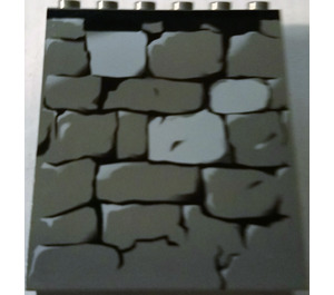 LEGO Sloped Panel 4 x 6 x 6 with Stone Wall Pattern (53212)