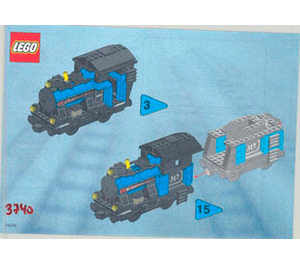 LEGO Small Locomotive Set 3740 Instructions
