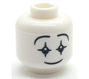 LEGO Smiling Clown Head (Recessed Solid Stud) (3626)