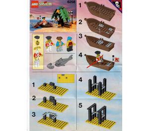 LEGO Smuggler's Shanty Set 6258 Instructions