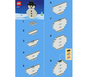 LEGO Snowman Set 40003 Instructions
