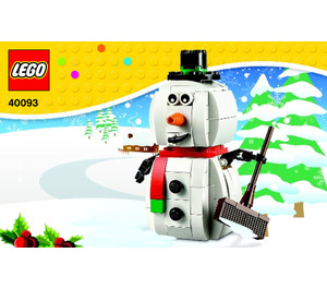 LEGO Snowman Set 40093 Instructions