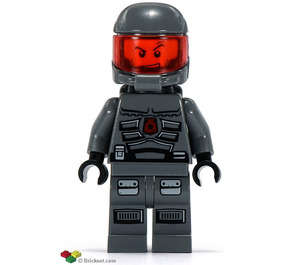 LEGO Space Policeman with Sneer Minifigure
