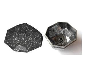LEGO Speckle Black Rock 4 x 4 x 3