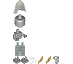LEGO Statue with Pearl Gold Wings (40221) Minifigure