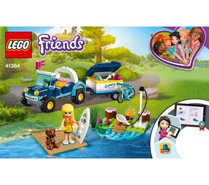 LEGO Stephanie's Buggy & Trailer  Set 41364 Instructions