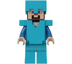 LEGO Steve with armor Minifigure
