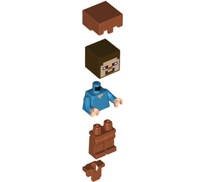LEGO Steve with Dark Orange Armour and Dark Orange Helmet Minifigure