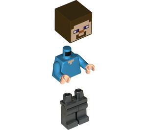LEGO Steve with Flat Silver Legs Minifigure