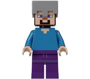 LEGO Steve with Helmet Minifigure