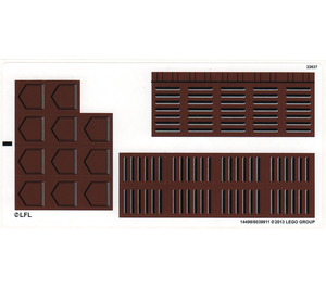 LEGO Sticker for Set 75020 (14498)