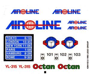 LEGO Sticker Sheet for Set 10159-1 (168155)