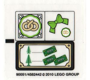 LEGO Sticker Sheet for Set 10216 (90051)