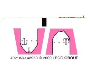 LEGO Sticker Sheet for Set 1196 / 1197-1 (40218)