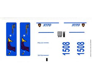 LEGO Sticker Sheet for Set 1376 (43655)