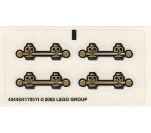 LEGO Sticker Sheet for Set 1381 (43443)