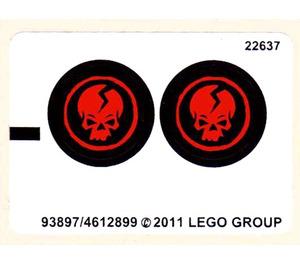 LEGO Sticker Sheet for Set 2259 (93897)