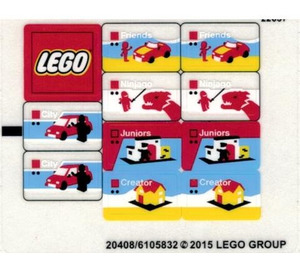 LEGO Sticker Sheet for Set 40145 / 40305 (20408)