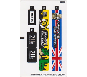 LEGO Sticker Sheet for Set 40220 (26661)