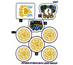 LEGO Sticker Sheet for Set 41142 (25130)