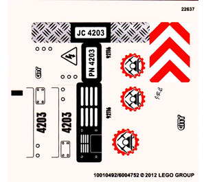 LEGO Sticker Sheet for Set 4203 (10492)