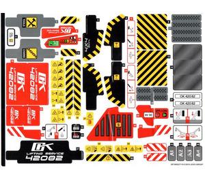 LEGO Sticker Sheet for Set 42082 (38739)