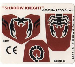 LEGO Sticker Sheet for Set 4942